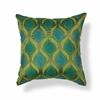 "KAS Rugs L107 Teal/Green Tribeca Pillow 18"" x 18"" Size Pillows"