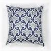 "L108 Ivory/Blue Chateaux Pillow 18"" x 18"" Size Pillows"