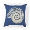 "KAS Rugs L111 Seashell Spiral Pillow 18"" x 18"" Size Pillows"