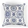 "KAS Rugs L113 Ivory/Blue Mosaic Pillow 18"" x 18"" Size Pillows"