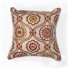 "KAS Rugs L122 Ivory/Red Mosaic Pillow 18"" x 18"" Size Pillows"