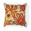 "KAS Rugs L123 Ivory/Red Sea Flora Pillow 18"" x 18"" Size Pillows"