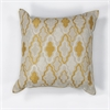 """KAS Rugs L132 Ivory/Yellow Groove Pillow 18"""" x 18"""" Size Pillows"""