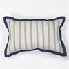 "KAS Rugs L167 Ivory Nautical Stripes Pillow 12"" x 20"" Size Pillows"