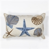 "KAS Rugs L168 Seashells Pillow 12"" x 20"" Size Pillows"