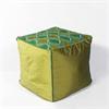 "KAS Rugs F811 Teal/Green Tribeca Pouf 18"" x 18"" x 18"" Size Poufs"