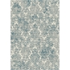 "KAS Rugs Provence 8609 Ivory/Blue Damask 2'2""X 6'11"" Runner Size Area Rug"