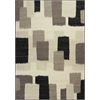 "Reflections 7413 Black & White Palette 2'7"" x 4'11"" Size Area Rug"