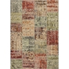 "Reflections 7420 Multicolor Patchwork 2'7"" x 4'11"" Size Area Rug"