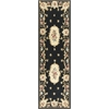"Ruby 8901 Black Fleur-De-Lis Aubusson 2'3"" x 9'6"" Runner Size Area Rug"