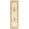 "KAS Rugs Ruby 8904 Ivory Fleur-De-Lis Aubusson 2'3"" x 9'6"" Runner Size Area Rug"
