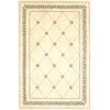 "Ruby 8905 Ivory Trellis 2'3"" x 7'6"" Runner Size Area Rug"