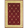 "KAS Rugs Ruby 8914 Ruby/Gold  Trellis 5'3"" x 8' Size Area Rug"