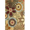 "KAS Rugs Ruby 8918 Sage Retro Flora 3'3"" x 5'3"" Size Area Rug"