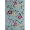 "Ruby 8919 Blue Floral Vines 5'3"" x 8' Size Area Rug"