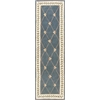 "Ruby 8929 Wedgewood/Ivory Trellis 2'3"" x 9'6"" Runner Size Area Rug"