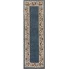 "KAS Rugs Ruby 8940 Slate Blue Floral Border 2'3"" x 7'6"" Runner Size Area Rug"