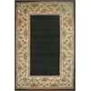 "Ruby 8941 Black Floral Border 8' x 10'6"" Size Area Rug"