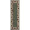 """KAS Rugs Ruby 8942 Sage Floral Border 2'3"""" x 7'6"""" Runner Size Area Rug"""