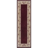 "KAS Rugs Ruby 8979 Ruby Floral Border 2'3"" x 7'6"" Runner Size Area Rug"