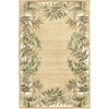 "KAS Rugs Ruby 8996 Beige/Ivory Natural Fauna 5'3"" x 8' Size Area Rug"