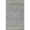 "Samara 3602 Slate Blue Delaney 2'3"" x 7'6"" Runner Size Area Rug"