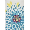 KAS Rugs Shelby 6300 Ivory Floral Burst 2' x 3' Size Area Rug