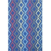 Shelby 6301 Blue Groove 5' x 7' Size Area Rug
