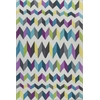 "Shelby 6306 Teal/Grey Kaleidoscope 6'6"" x 9'6"" Size Area Rug"