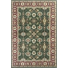 "Shiraz 5005 Emerald/Red Mahal 5'3"" x 7'7"" Size Area Rug"