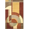 "Signature 9134 Rust/Coffee Art Deco 3'6"" x 5'6"" Size Area Rug"