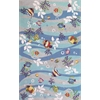 "Sonesta 2011 Blue Tropical Fish 3'3"" x 5'3"" Size Area Rug"