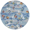 "Sonesta 2011 Blue Tropical Fish 7'6"" Round Size Area Rug"