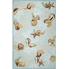 "Sonesta 2021 Blue Coral Reef 27"" X 45"" Size Area Rug"