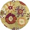 """KAS Rugs Sonesta 2026 Pistachio Floral Splash 7'6"""" Round Size Area Rug"""