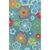 """KAS Rugs Sonesta 2029 Blue  Floral Splash 7'6"""" x 9'6"""" Size Area Rug"""