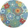 """KAS Rugs Sonesta 2029 Blue  Floral Splash 7'6"""" Round Size Area Rug"""