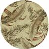 """Sparta 3124 Ivory Ferns 5'6"""" Round Size Area Rug"""