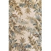 "Sparta 3126 Ivory Tropical Branches 5'3"" x 8'3"" Size Area Rug"