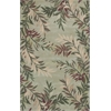 "Sparta 3144 Sage Tropical Branches 2'6"" x 10' Runner Size Area Rug"