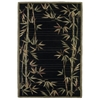 "Sparta 3147 Black Bamboo Border 2'6"" x 10' Runner Size Area Rug"