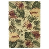 "Sparta 3148 Beige Palm Leaves 5'3"" x 8'3"" Size Area Rug"
