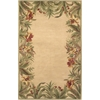 "Sparta 3151 Ivory Rainforest 5'3"" x 8'3"" Size Area Rug"