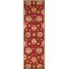 """Syriana 6003 Red Allover Kashan 5'6"""" Round Size Area Rug"""