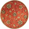 "Syriana 6008 Sienna Allover Mahal 5'6"" Round Size Area Rug"