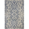 "KAS Rugs Zarepath 7507 Ivory/Blue Charisma 2'2"" x 7'11"" Runner Size Area Rug"