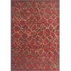 "Zen 5059 Earth Red Pebbles 3'3"" x 5'3"" Size Area Rug"