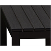 Elan Furniture Loft Outdoor 72 x 36 Counter Height Table - HDPE Black Table Top / Textured Black Frame