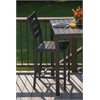 Loft Outdoor Counter Height Chair - HDPE Black Seat and Back / Textured Black Frame (set)