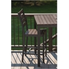Elan Furniture Loft Outdoor Counter Height Chair - HDPE Venetian Cocoa Seat and Back / Textured Black Frame (set)